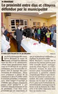 Article concernant la cérémonie des voeux du maire